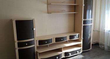 Гостиная «Роберта» дуб беленый- комбинированный, мебельная фабрика «Лером».